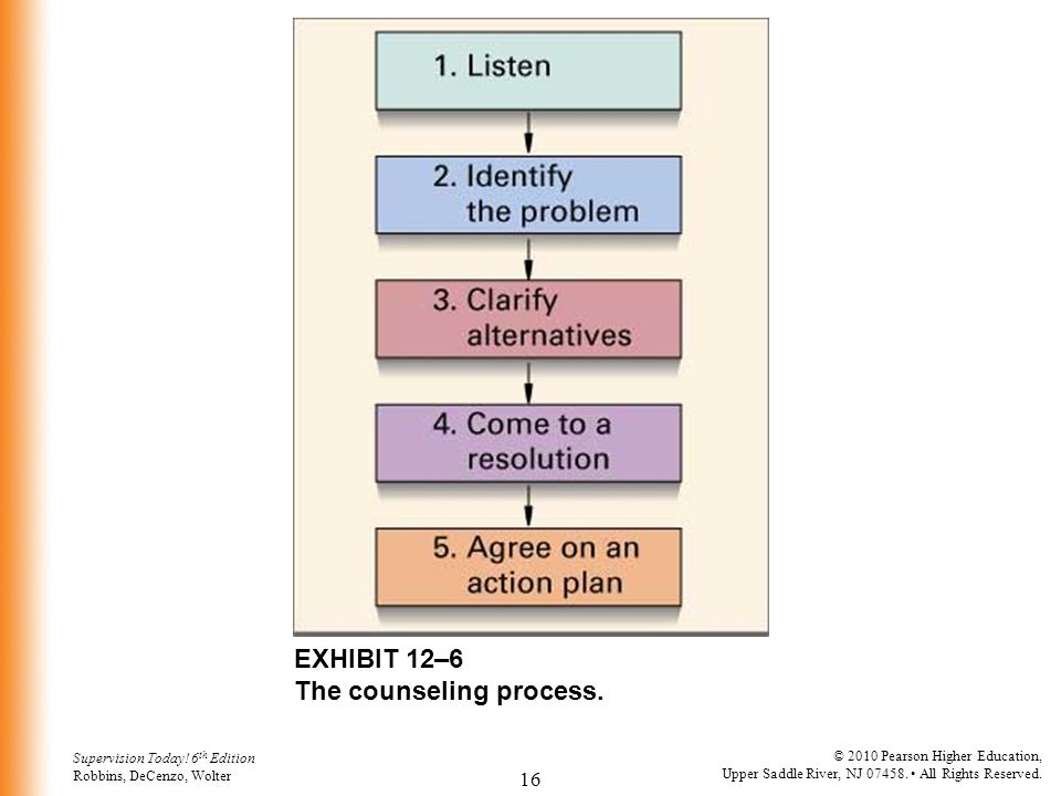EXHIBIT 12–6 The counseling process.