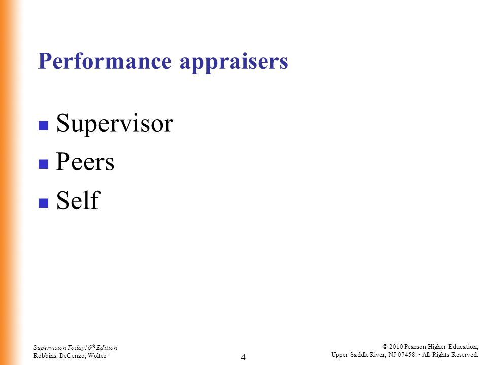 Performance appraisers