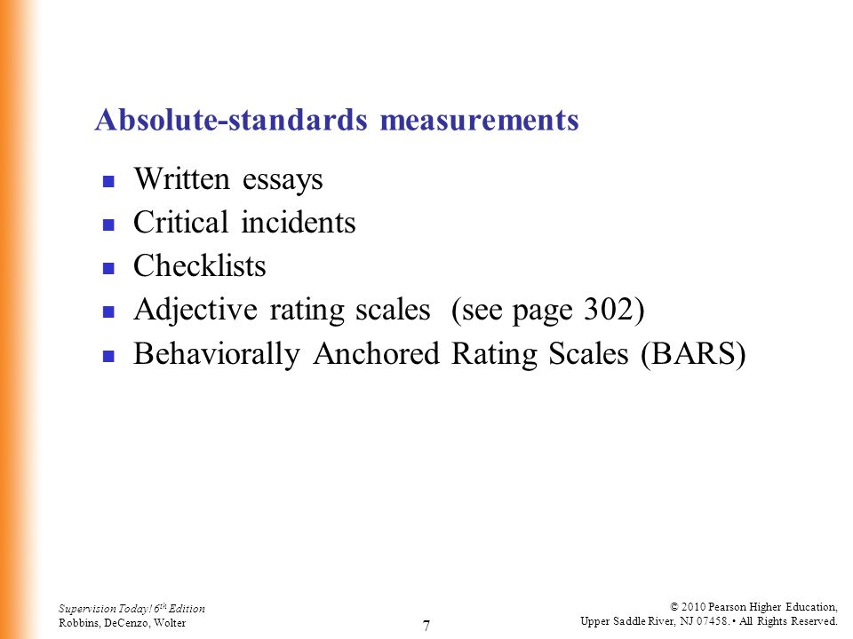Absolute-standards measurements