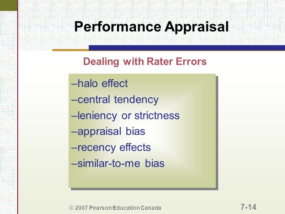 Dealing with Rater Errors