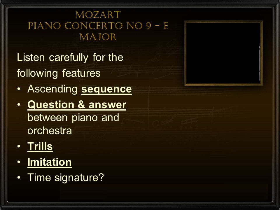 Mozart Piano Concerto No 9 - E major