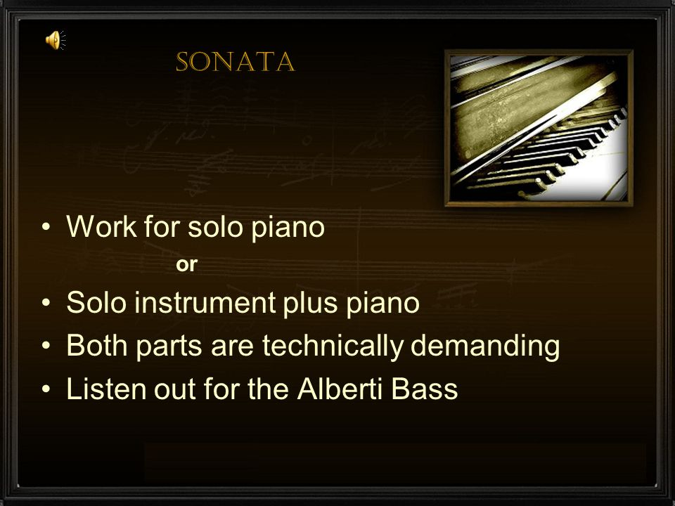Solo instrument plus piano Both parts are technically demanding