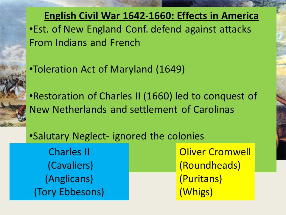 what were the effects of the english civil war