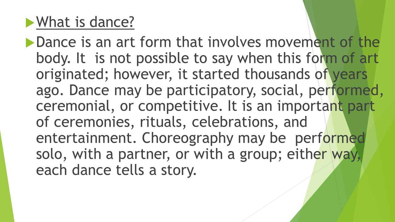 What is dance 12