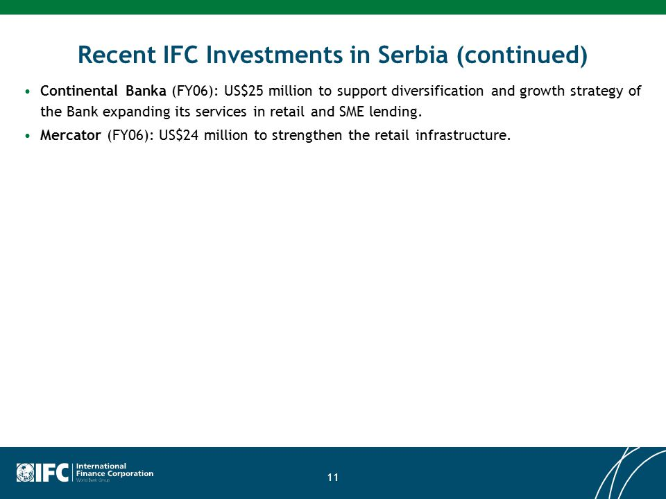 Ifc investment officer serbian actionforex gbp usd live