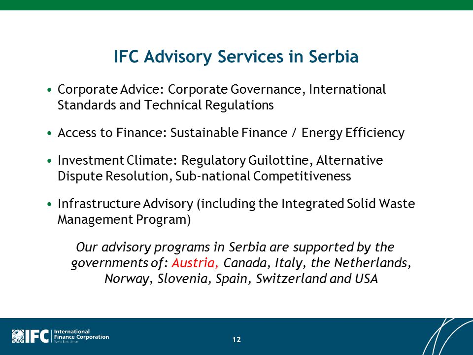 Ifc investment officer serbian the investment association of china