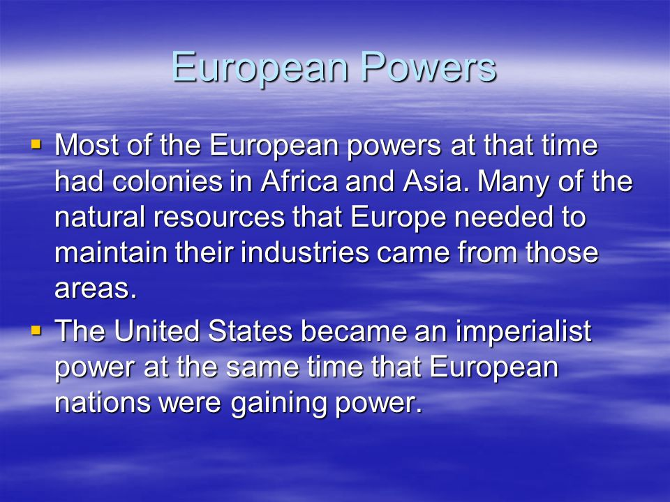 European Powers