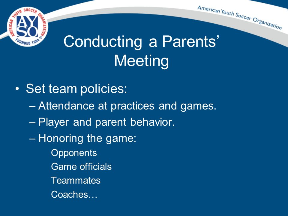 Conducting a Parents' Meeting
