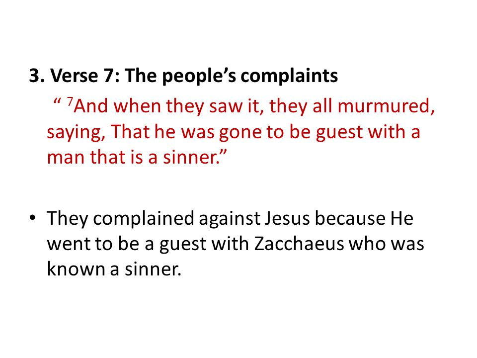 3. Verse 7: The people's complaints