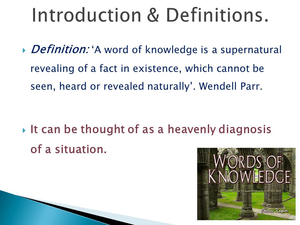 Introduction & Definitions.