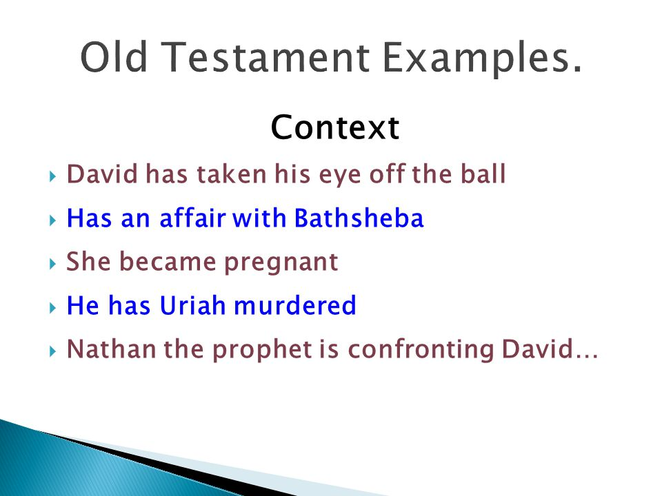 Old Testament Examples.