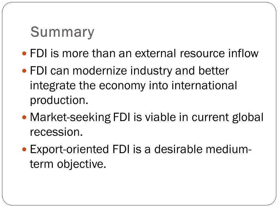 market seeking fdi definition