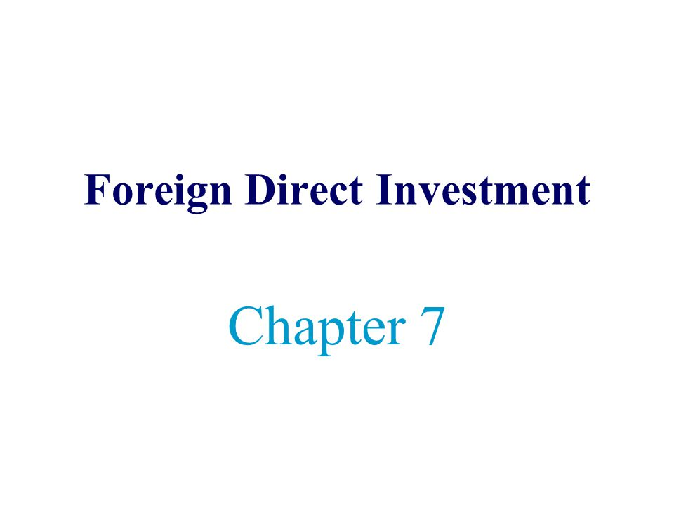 Foreign direct investment ppt download software frome st investments