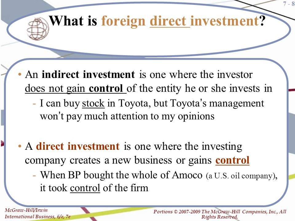 what is foreign indirect investment