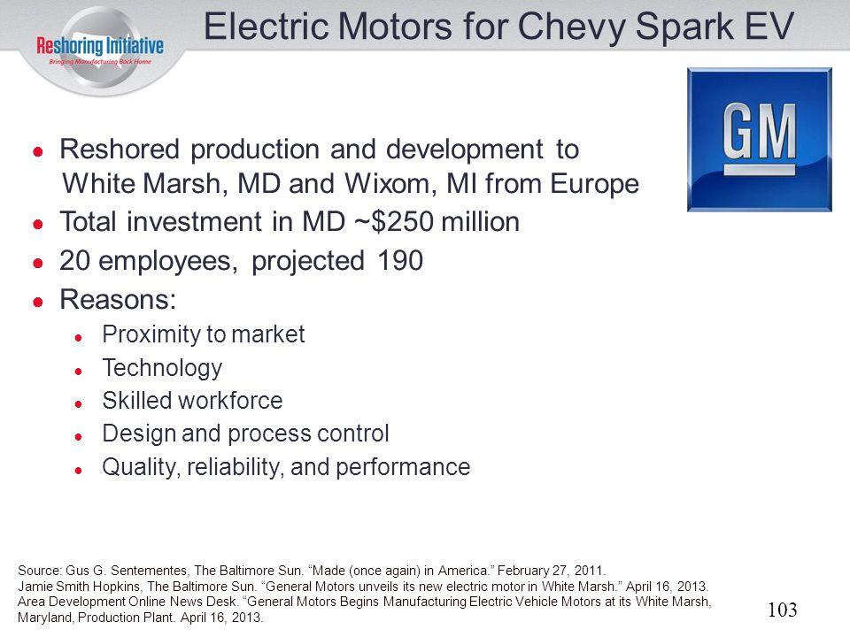 Electric Motors for Chevy Spark EV