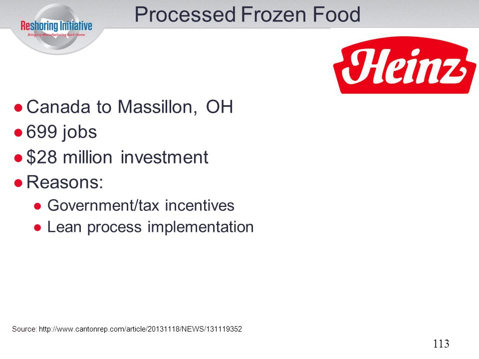 Processed Frozen Food Canada to Massillon, OH 699 jobs