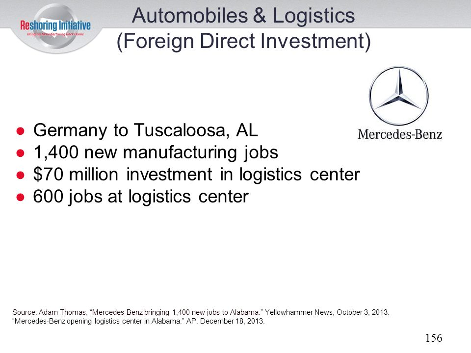 Automobiles & Logistics (Foreign Direct Investment)