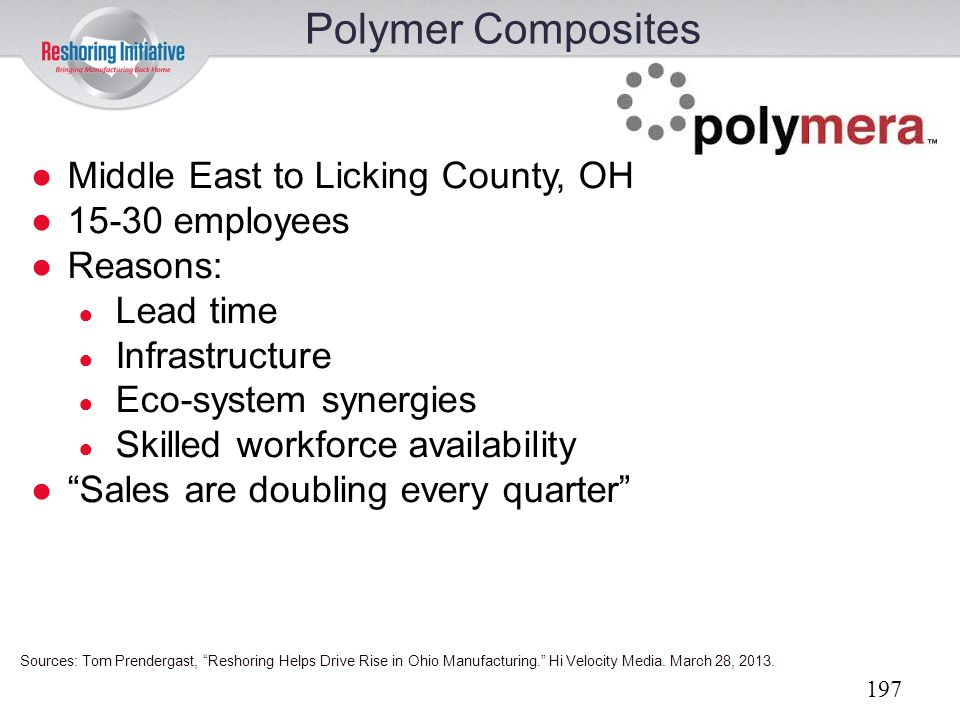 Polymer Composites Middle East to Licking County, OH 15-30 employees