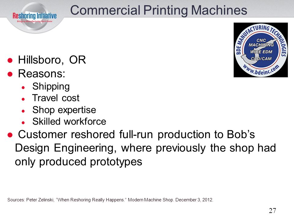 Commercial Printing Machines