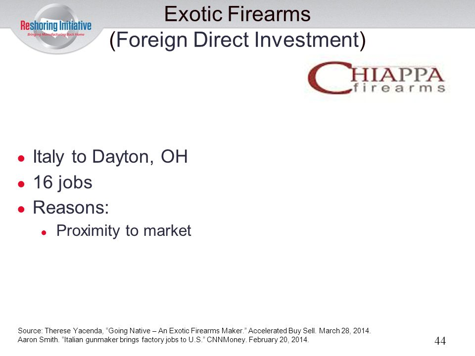 Exotic Firearms (Foreign Direct Investment)