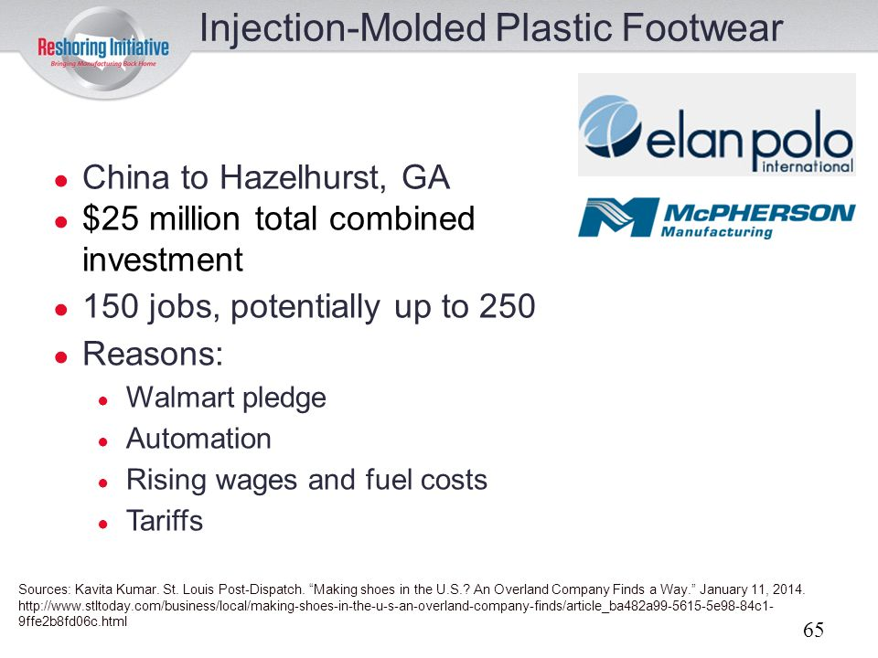 Injection-Molded Plastic Footwear