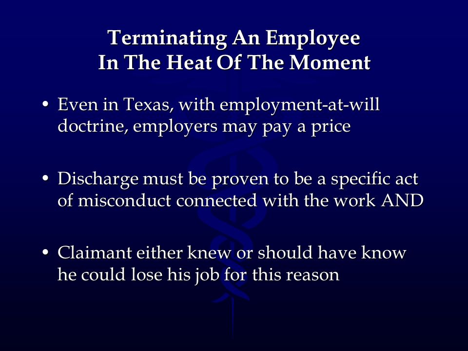 Terminating An Employee In The Heat Of The Moment