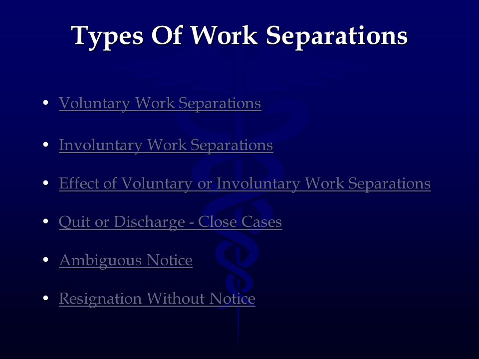 Types Of Work Separations