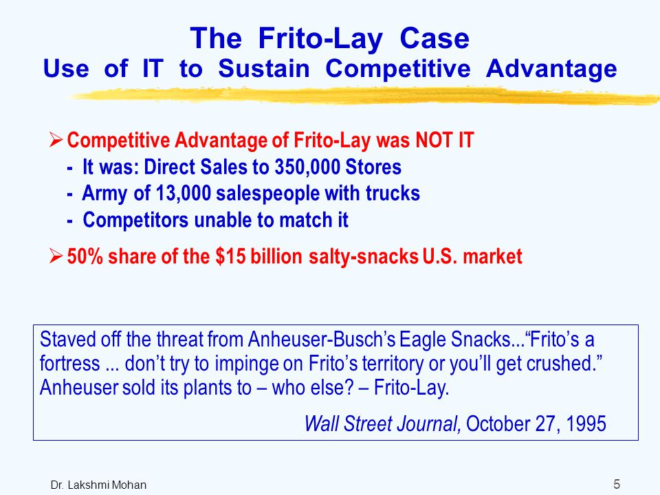 Outline 1 The I Vs T In It 2 Frito Lay Case Ppt Download