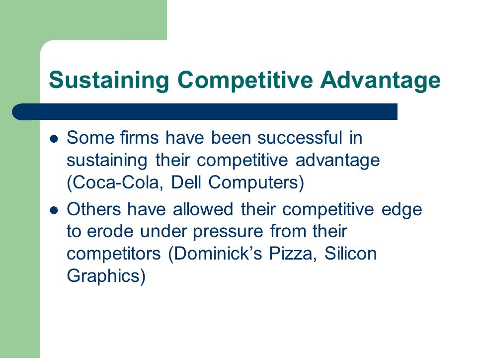 competitive advantage for coca cola