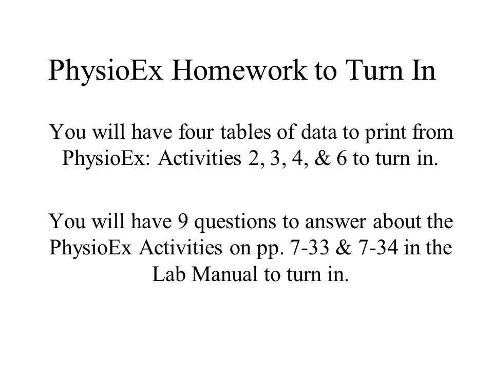 physioex 9.0 exercise 11 activity 4