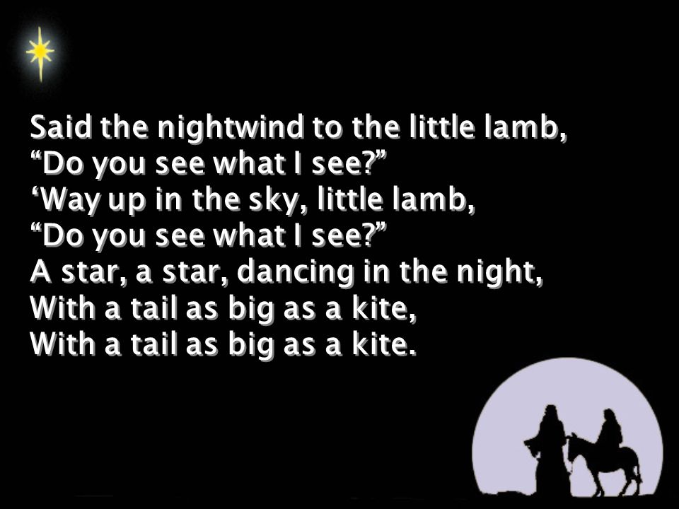 2 said the nightwind to the little lamb