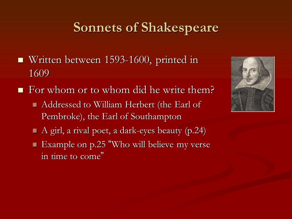 shakespeare rival poet