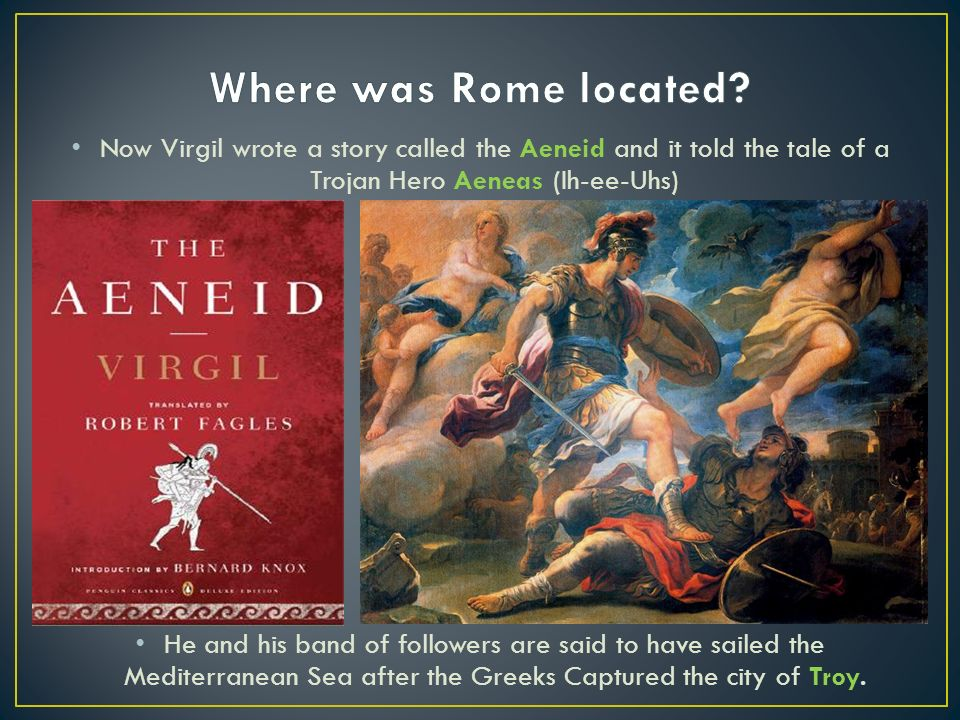 why does virgil make aeneas enter The aeneid questions including what is the  why does aeneas not  aeneas is the main character in vergil's epic poem the aeneid  but aeneas also.