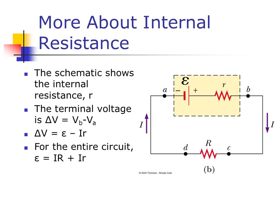 More About Internal Resistance