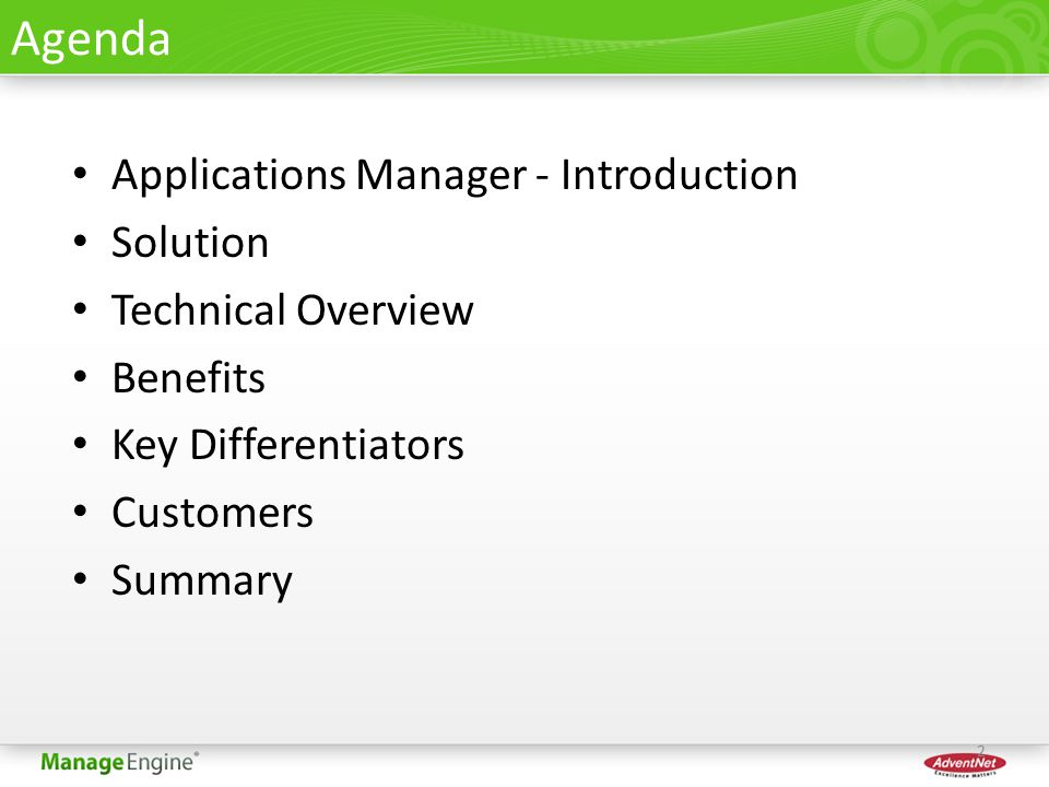 ManageEngine® Applications Manager - ppt download