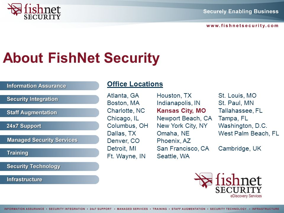 FishNet Security E-Discovery Benjamin Stephan - ppt video