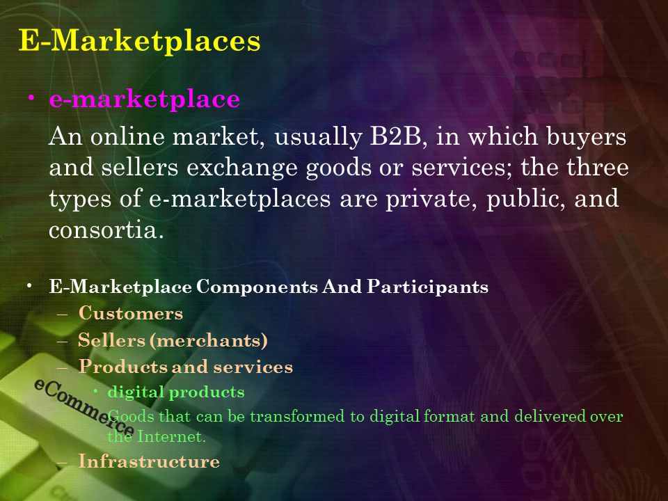 E-Marketplaces e-marketplace