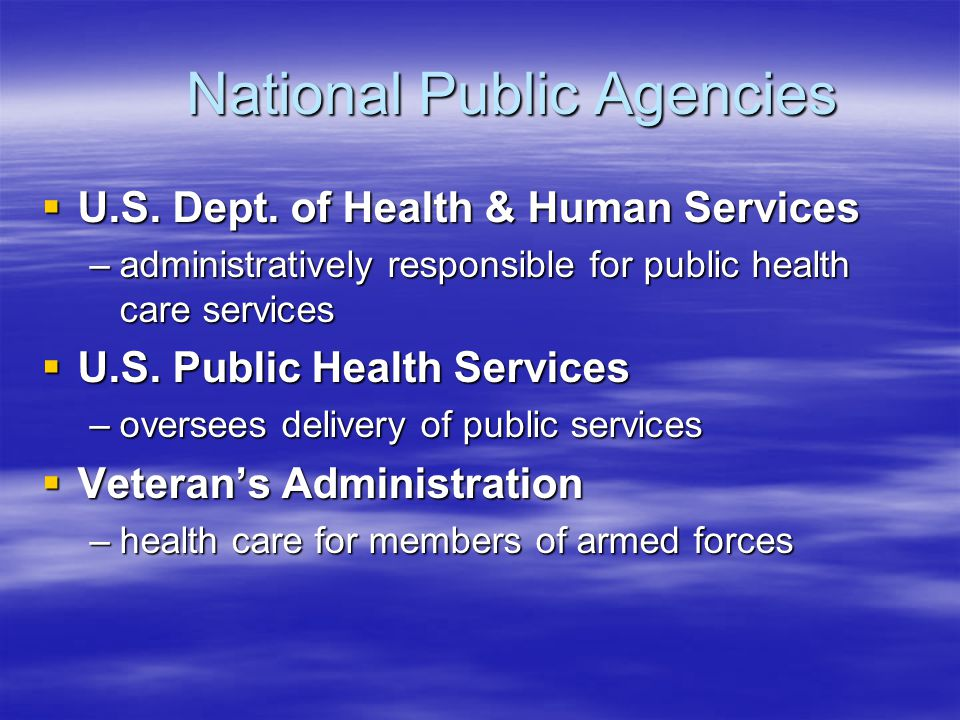 National Public Agencies