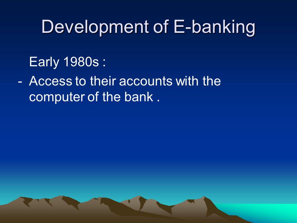 disadvantages of e banking pdf