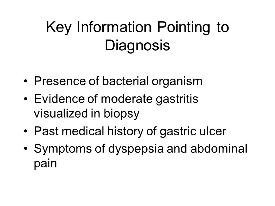 Key Information Pointing to Diagnosis
