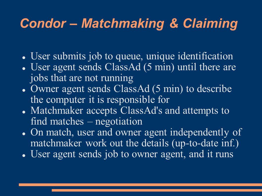 Condor matchmaking