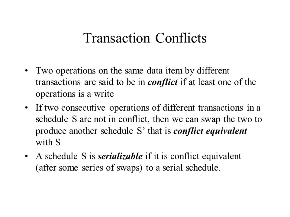 Transaction Conflicts