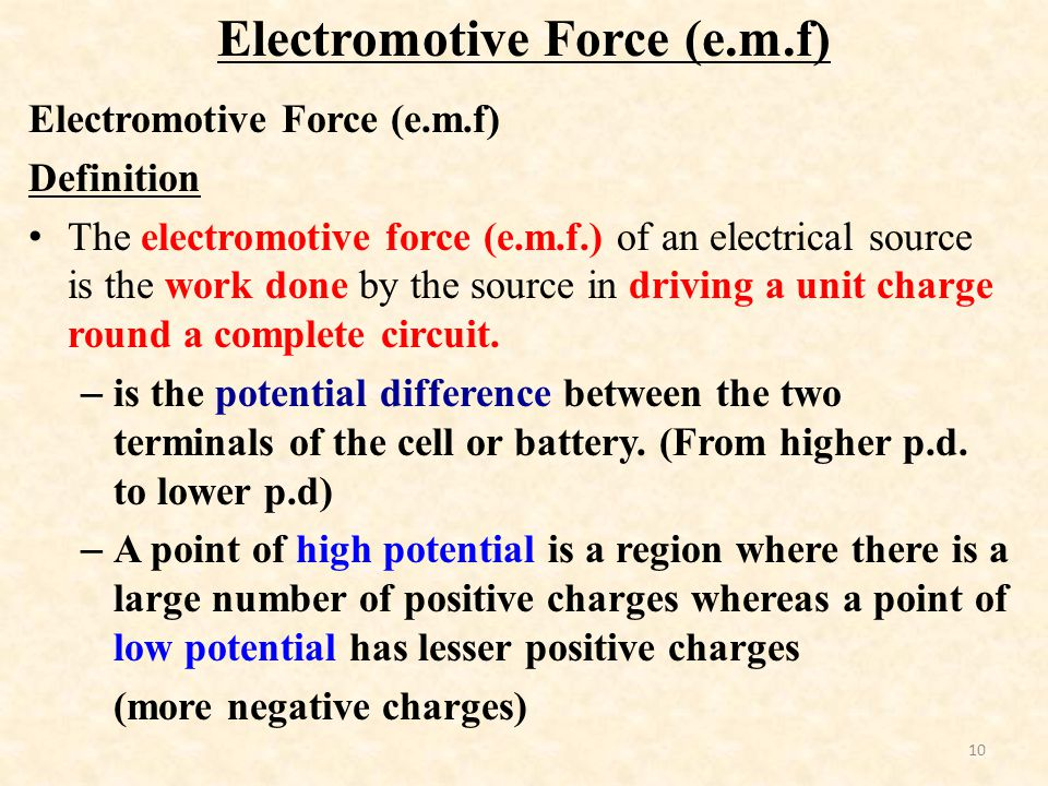 how to create emf physics