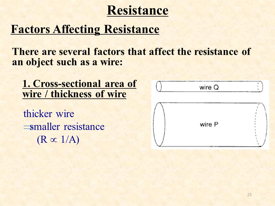 factors affecting wire Factors affecting wire topics: orders of magnitude, voltage, harshad number pages: 4 (705 words) published: october 14, 2007 what factors affect the resistance of a piece of wire.