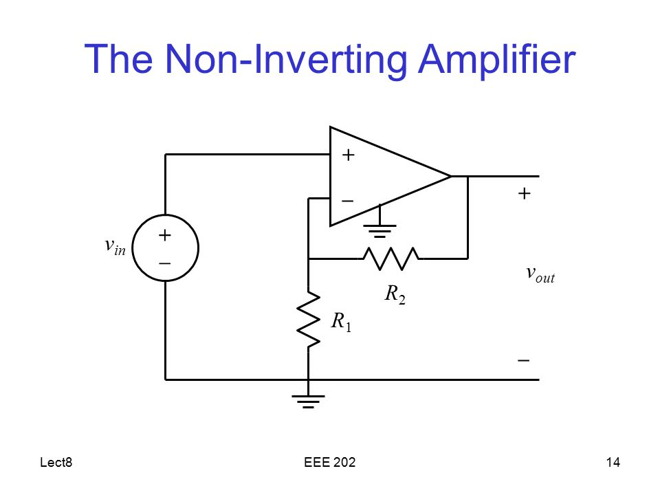 The Non-Inverting Amplifier