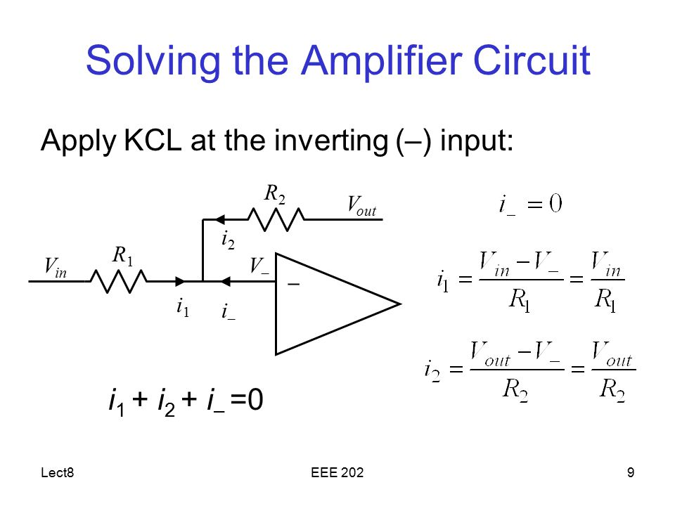 Solving the Amplifier Circuit