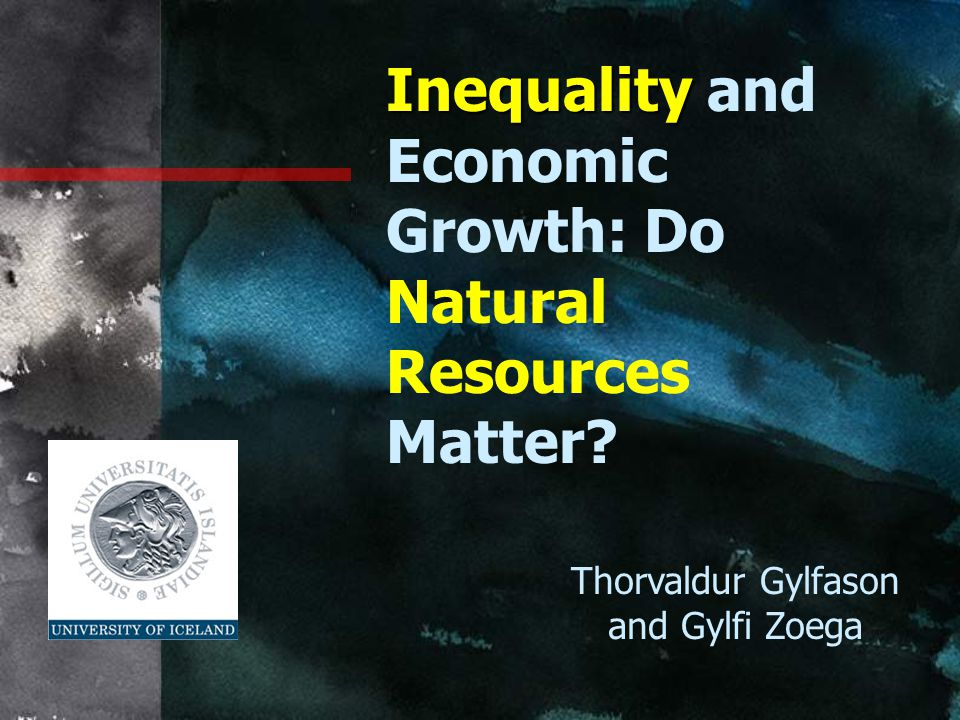 Inequality and Economic Growth: Do Natural Resources Matter