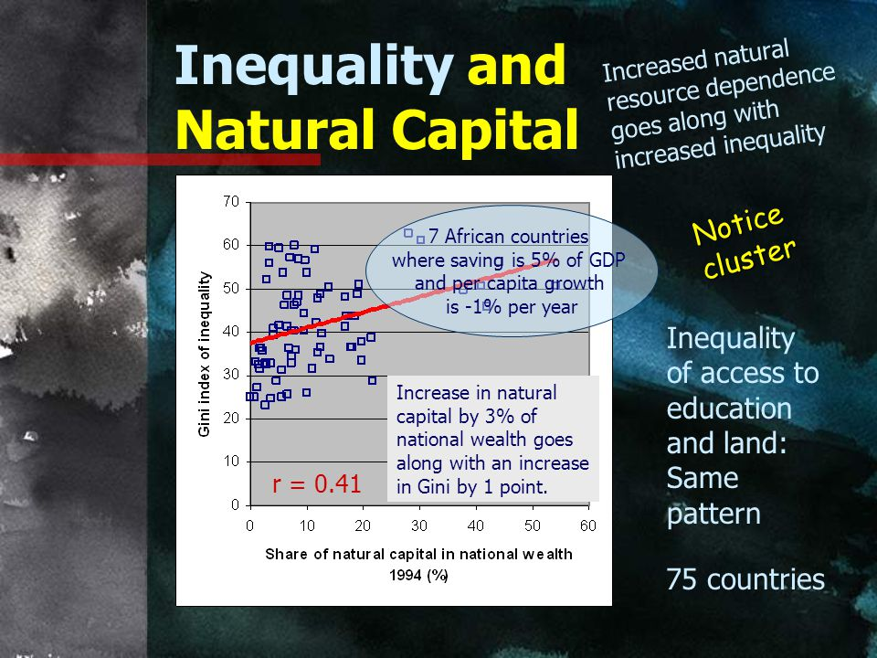 Inequality and Natural Capital