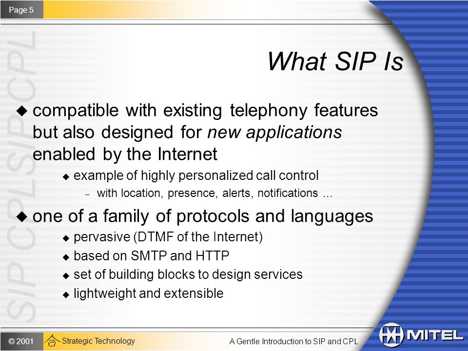 A Gentle Introduction to SIP and CPL January 31, ppt download