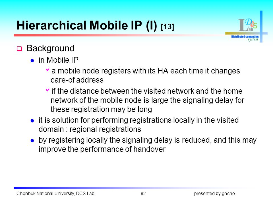 Mobile ip, and micro mobility ppt download.